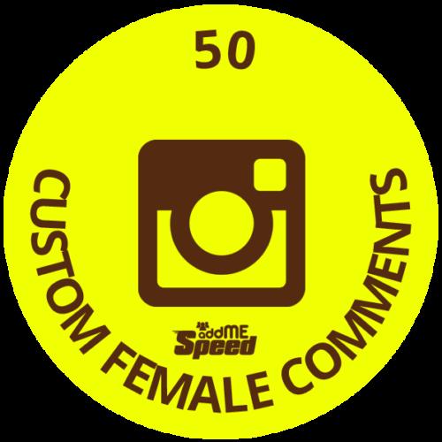 50 instagram custom female comments
